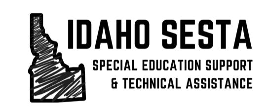 Idaho SESTA logo. Outline of Idaho with loose scribble fill.