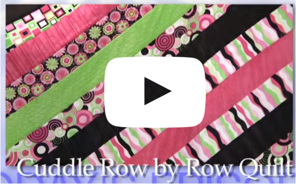 How to make a cuddle row quilt