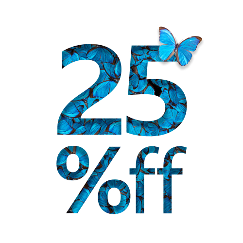 25  off discount. The concept of spring or sammer sale_ stylish poster_ banner_ promotion_ ads.