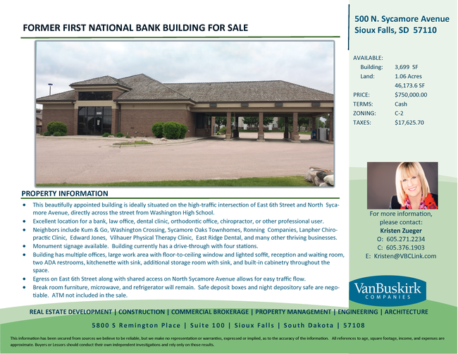 NEW FOR SALE Listing - Former First National Bank