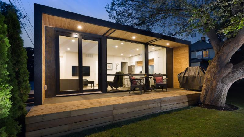 The Honomobo Container Laneway Home That Will Be On Display At BC Garden Show Is Built From Shipping Containers And Spans 704 Square Feet