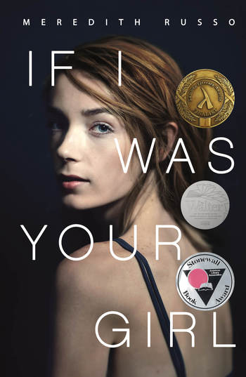 """Cover of book entitled """"If I Was Your Girl."""" Young white transgender woman looking over shoulder at camera."""
