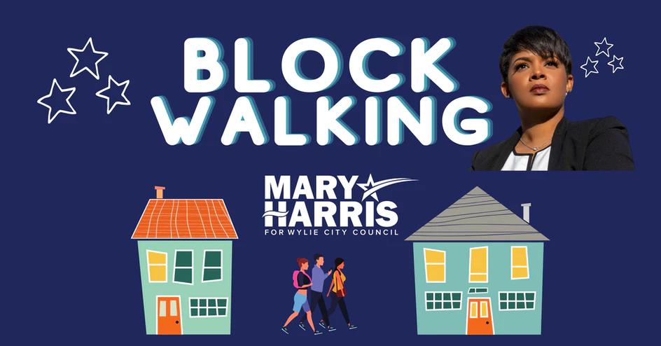 Mary Harris for Wylie City Council Block Walking