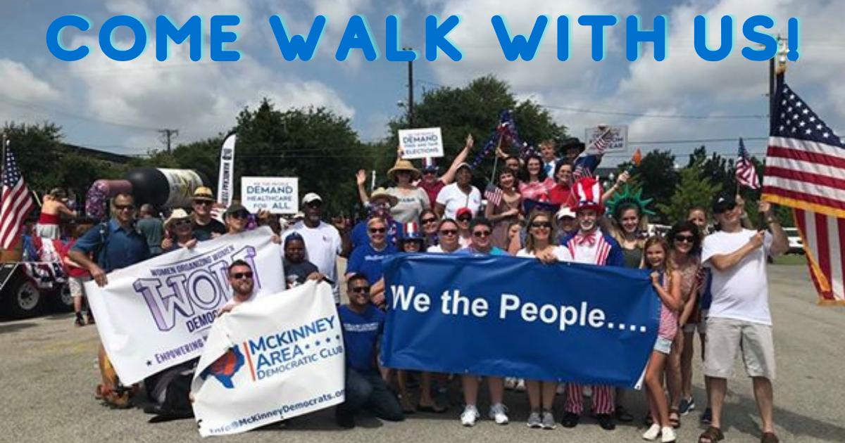 Walk with McKinney Dems in McKinney July 4th Parade