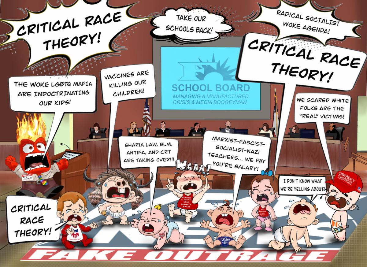Critical Race Theory Cartoon