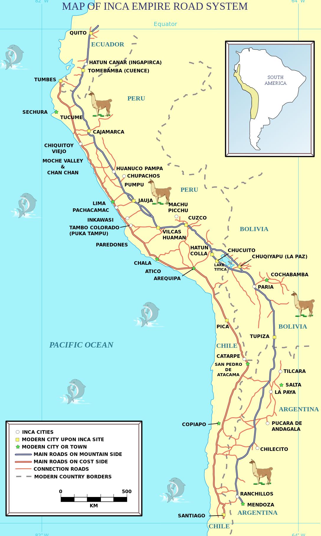 Inca Road Map