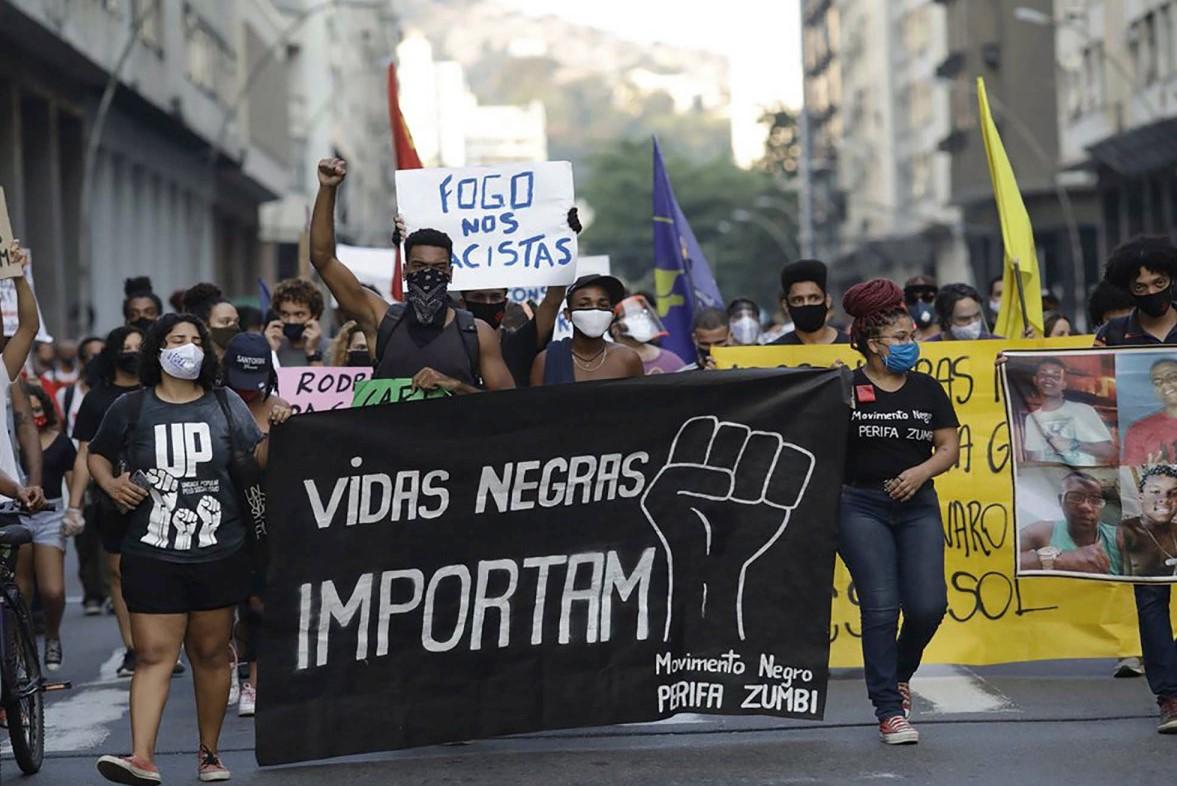 BLM protest in Brazil