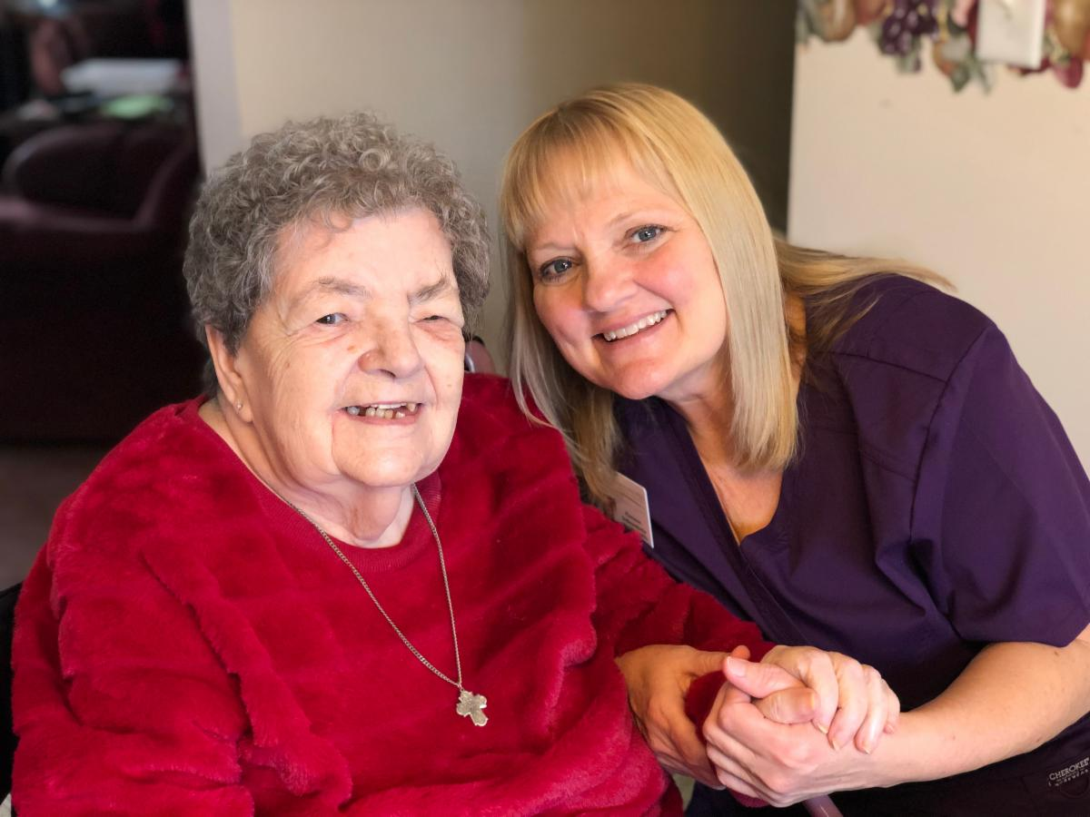 Flo and Hospice Patient