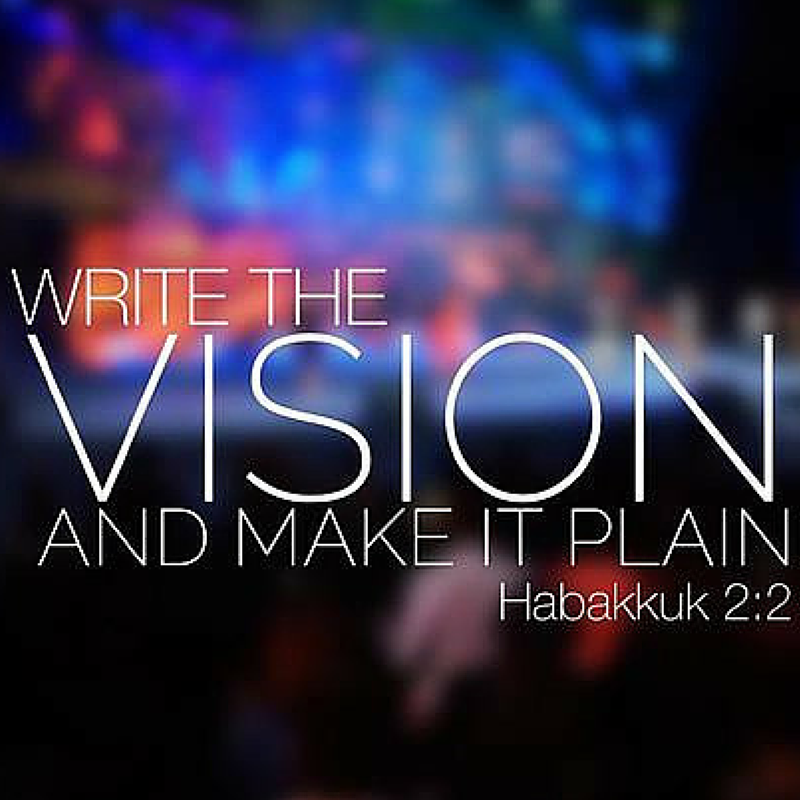 Join Us For - Write the Vision 2019