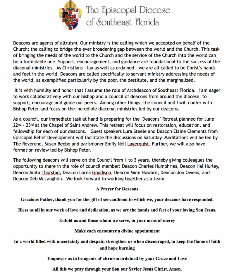 Grapevine -The Official Newsletter of the Diocese of