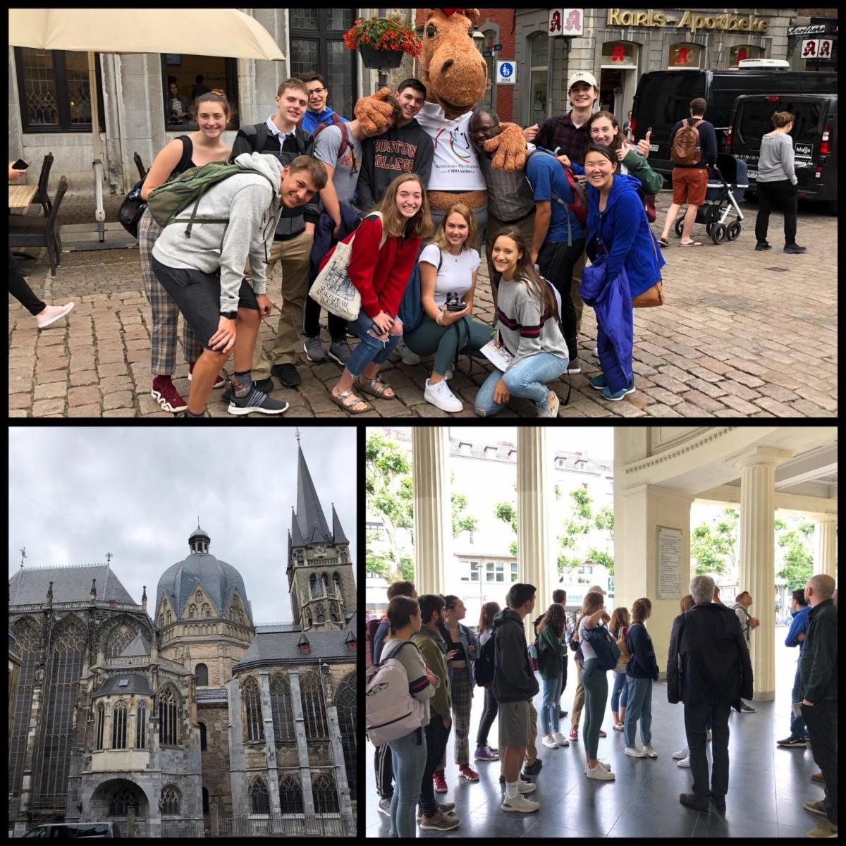 The first day of touring Aachen