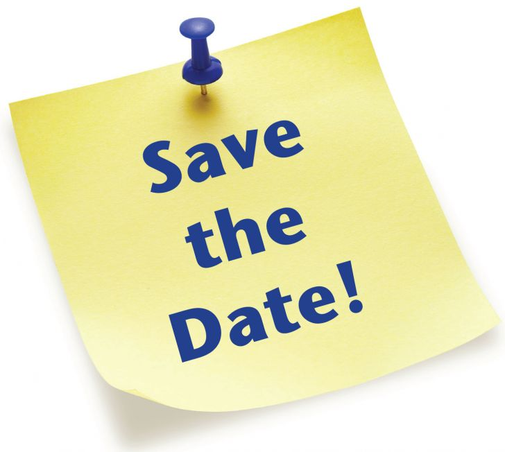 """Image of Post-It Note with the words """"Save the Date"""" printed on it"""