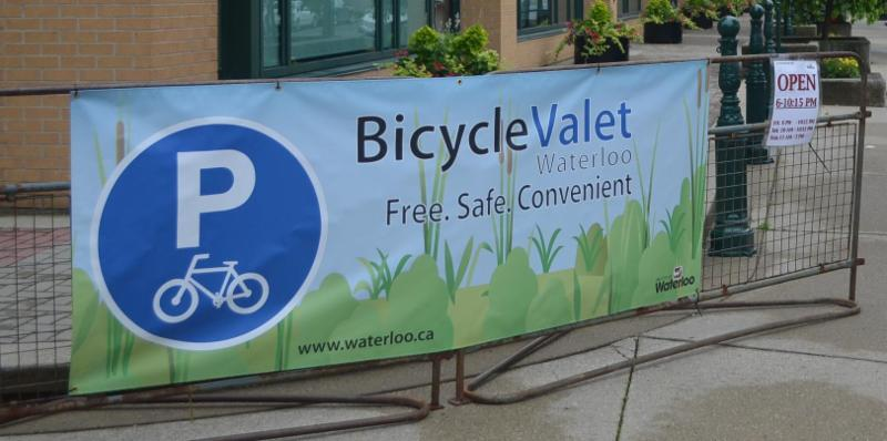 Bicycle valet sign