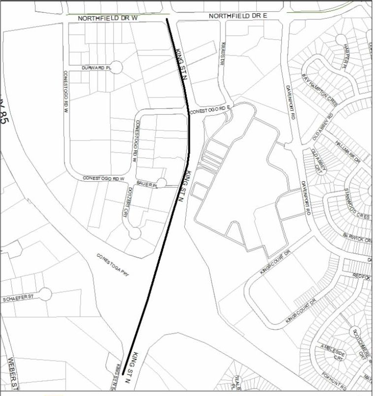 King Street North Multi-Use Trail map