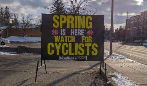 Spring is here - watch for cyclists
