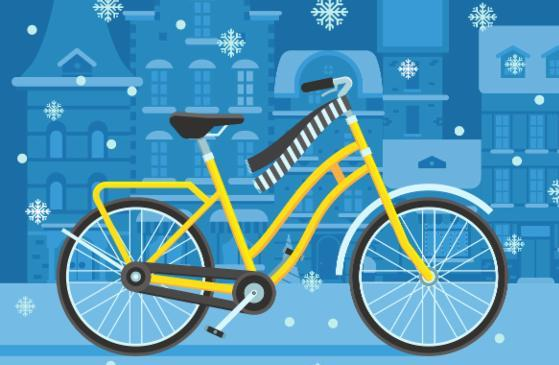 Winter Bike to Work Day Illustration