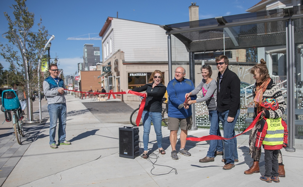 grand opening of uptown streetscape on King Street