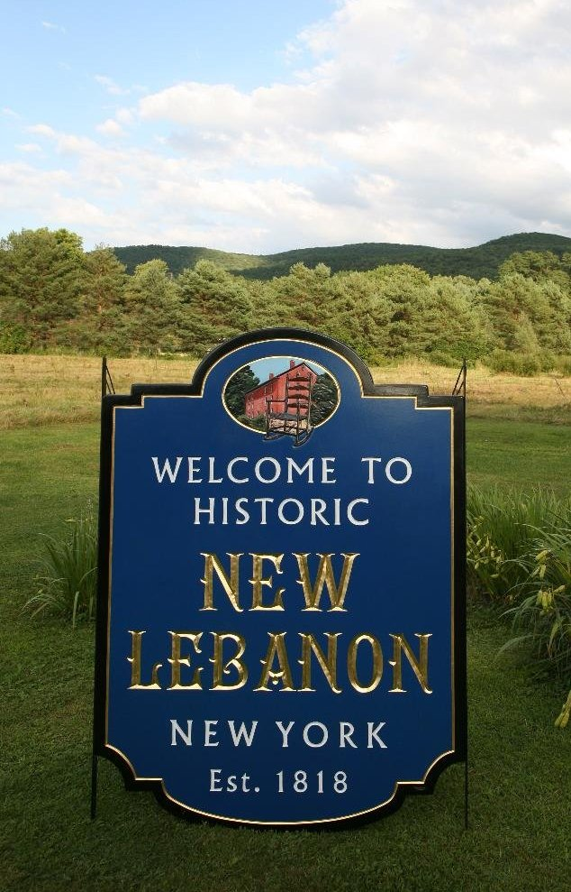 New Lebanon Road Sign