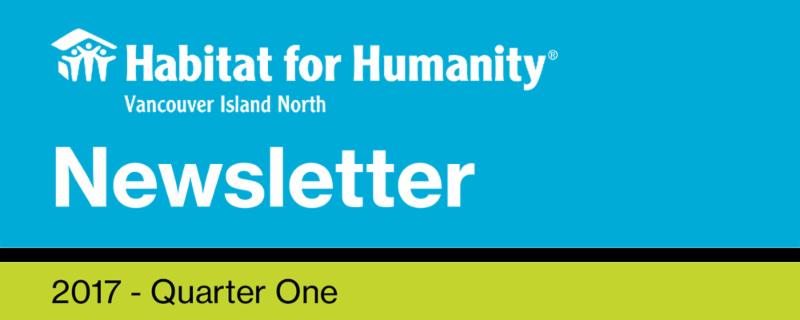 Newsletter 2017 - Quarter One