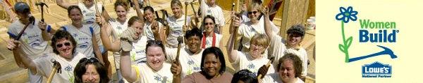 women build banner
