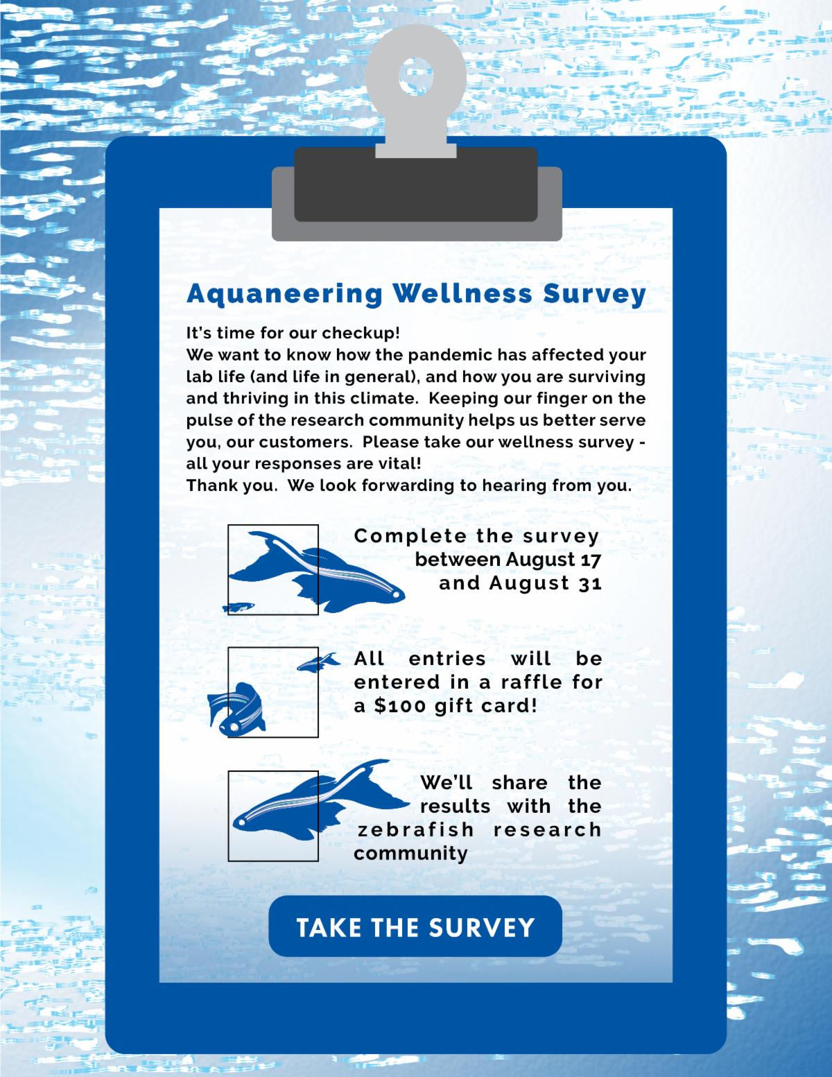 Take the Aquaneering 2020 Wellness Survey