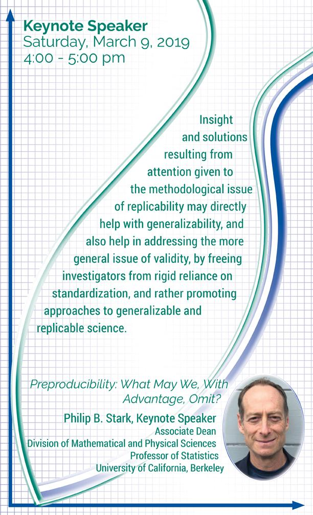 2019 Keynote Speaker _ Philip Stark of UC Berkeley _Preproducibility_ What May We_ With Advantage_ Omit__