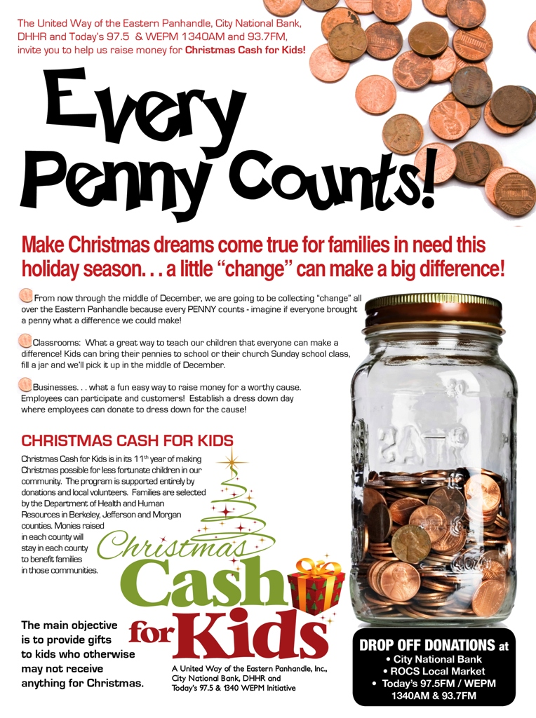 Time to turn in your Christmas Cash For Kids jars