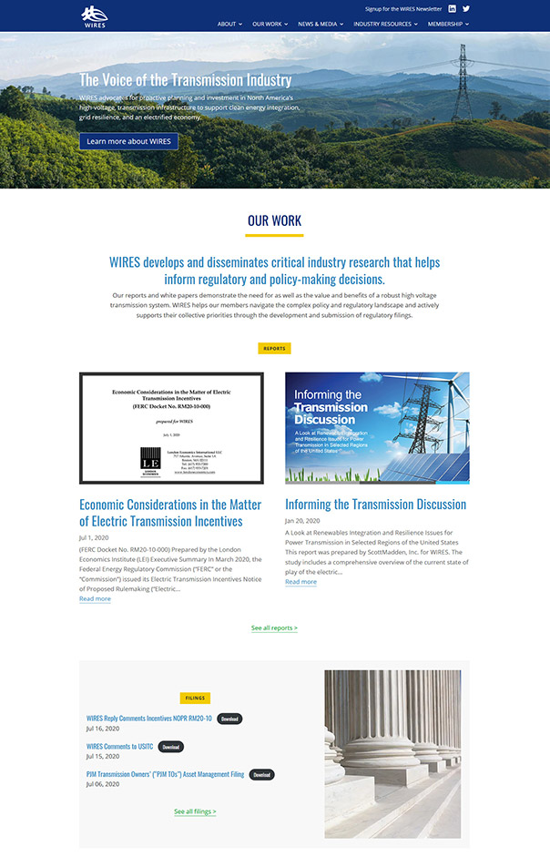 WIRES website sneak peek