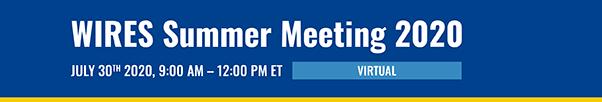 WIRES Summer Meeting header