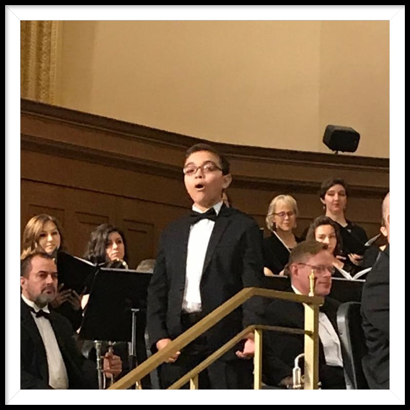 Matthew Herrera singing with orchestra