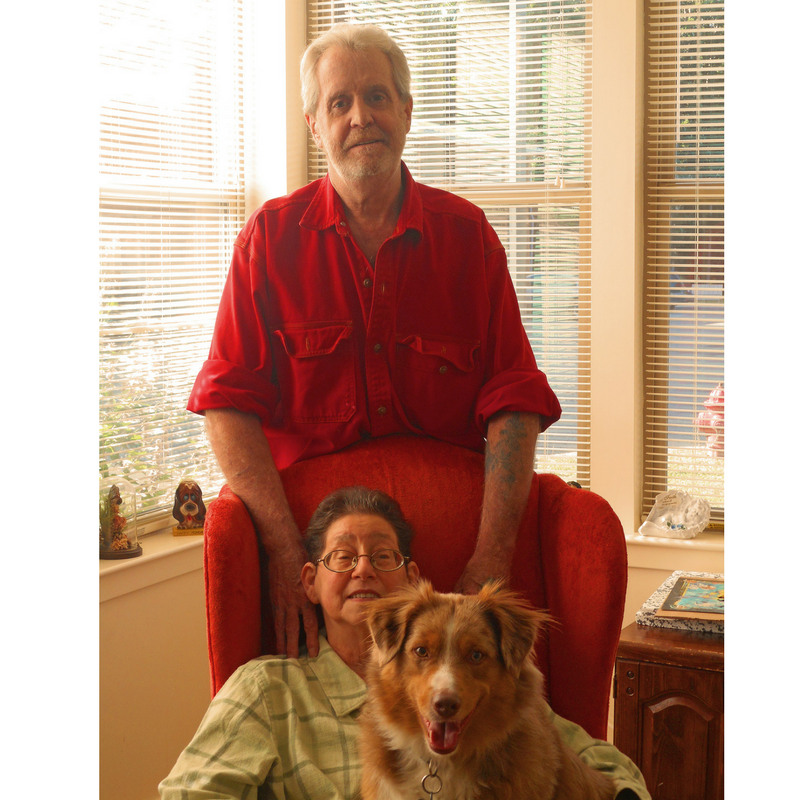 diana-and-bobby-hayes-diana-sitting-with-dog-bobby-standing