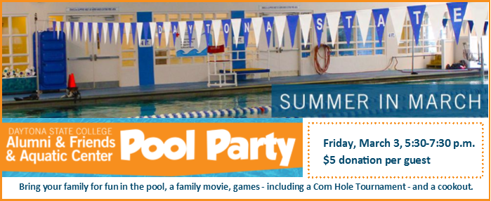 DSC Alumni _ Friends and the Aquatic Center Pool Party_ Friday_ March 3_ 5_30-7_30 p.m._ _5 donation per guest