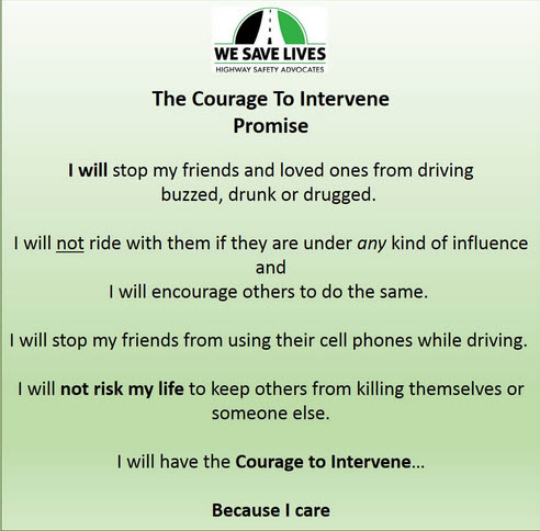 Courage to Intervene Pledge