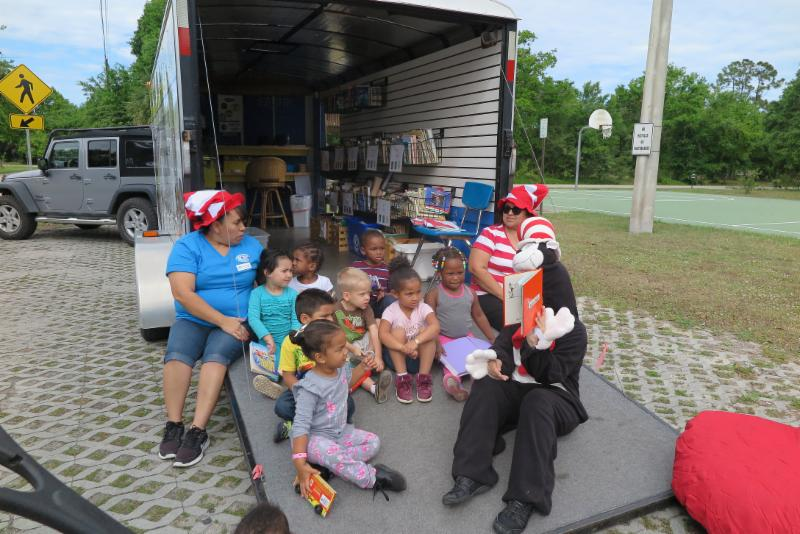 Donna and KRC and storytime