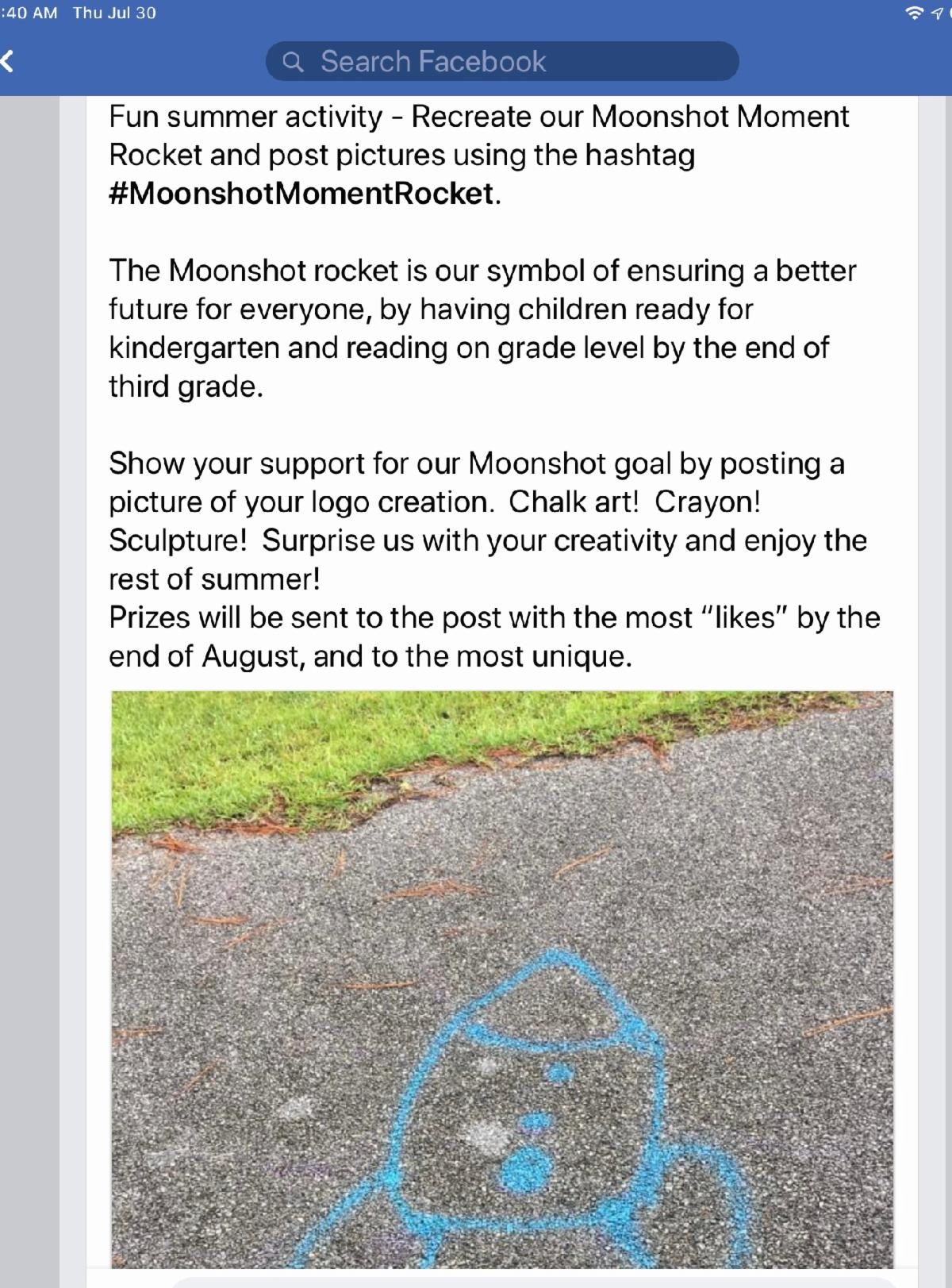 Rocket picture social media