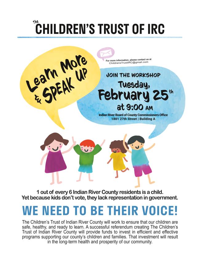 Children's Trust Workshop Flyer