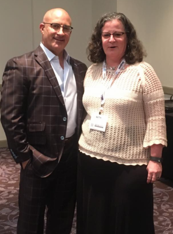 Beth McLaughlin and Jim Cantore