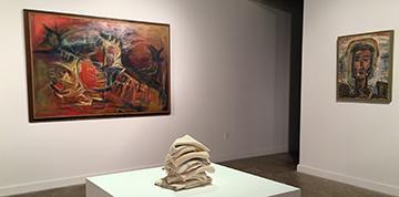 Image of works by Surls, Luna, Schow