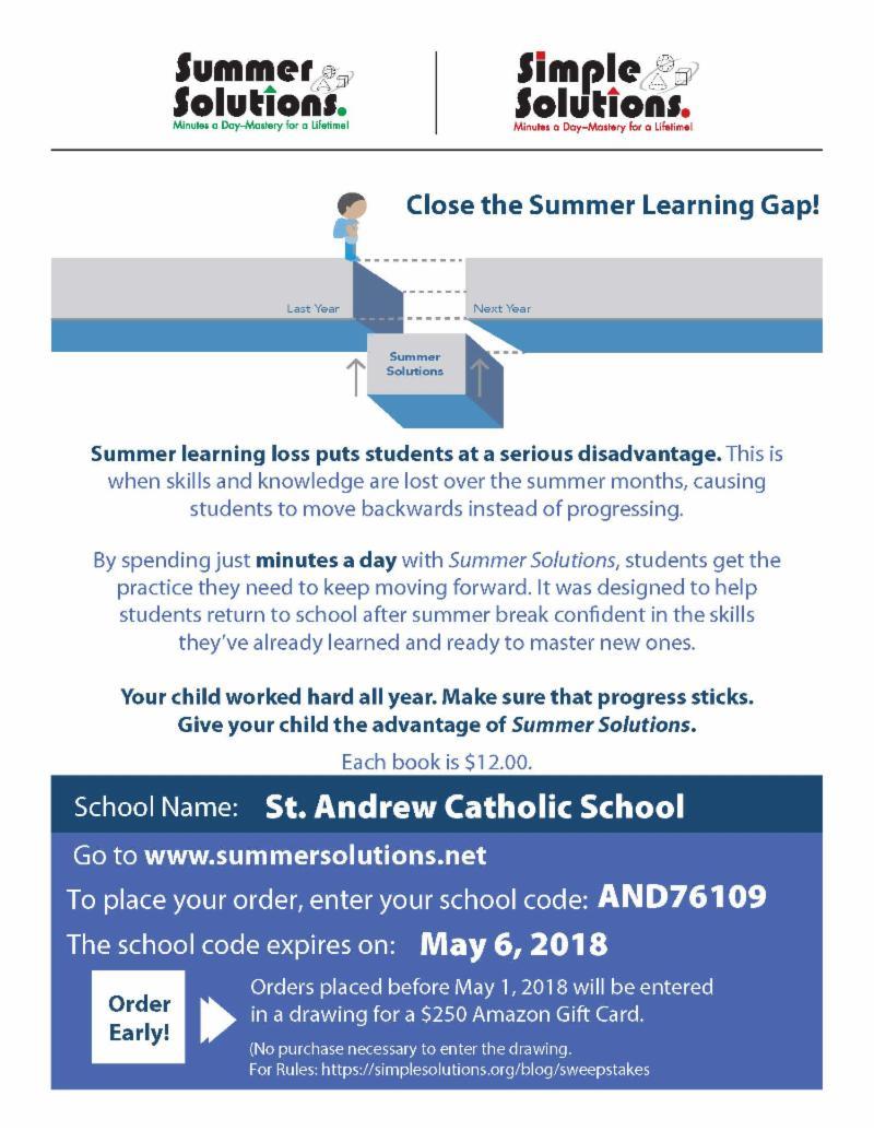 Wildcat Weekly Newsletter - Saint Andrew Catholic School