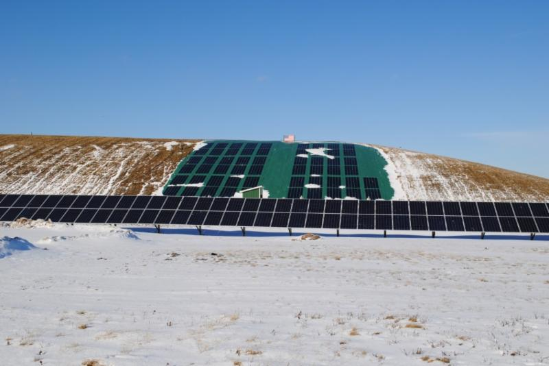 a 50 kWh solar ground mounted system
