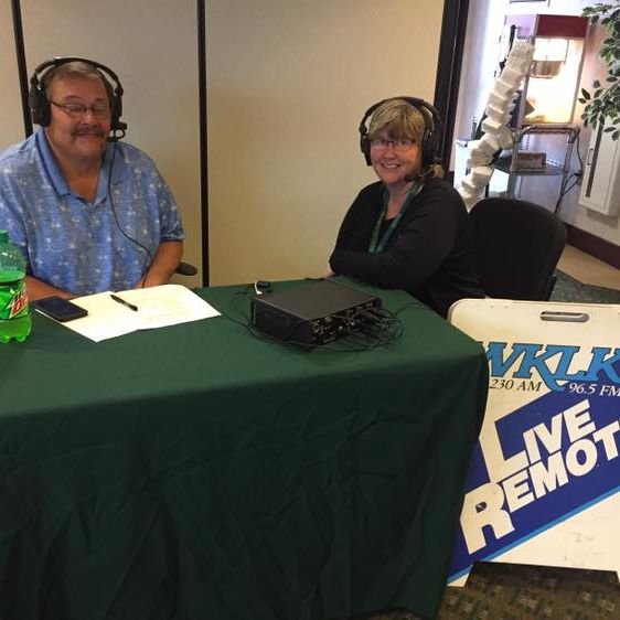 Northwoods CU employee, Tina Micke being interviewed by WKLK Radio for our Member Appreciation Lunch