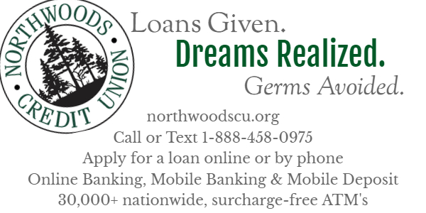 NCU Logo. Loans Given. Dreams Realized. Germs Avoided. www.northwoodscu.org. Call or text at 1-888-458-0975. Apply for loans online or by phone. Online Banking, Mobile Banking & Mobile Deposit. 30,000+ nationwide, surcharge-free ATM's
