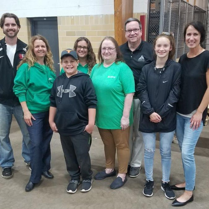 Northwoods CU employees and families at the Feed My Starving Children event.
