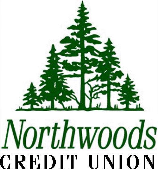 Northwoods Credit Union Logo with pine trees.