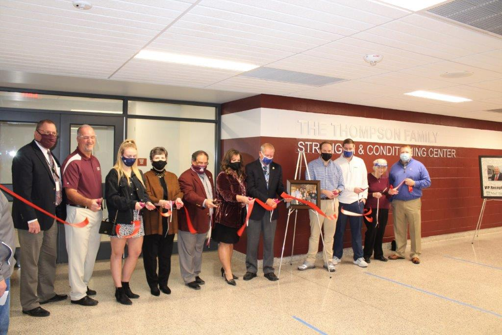 Thompson Family Strength & Conditioning Ribbon Cutting