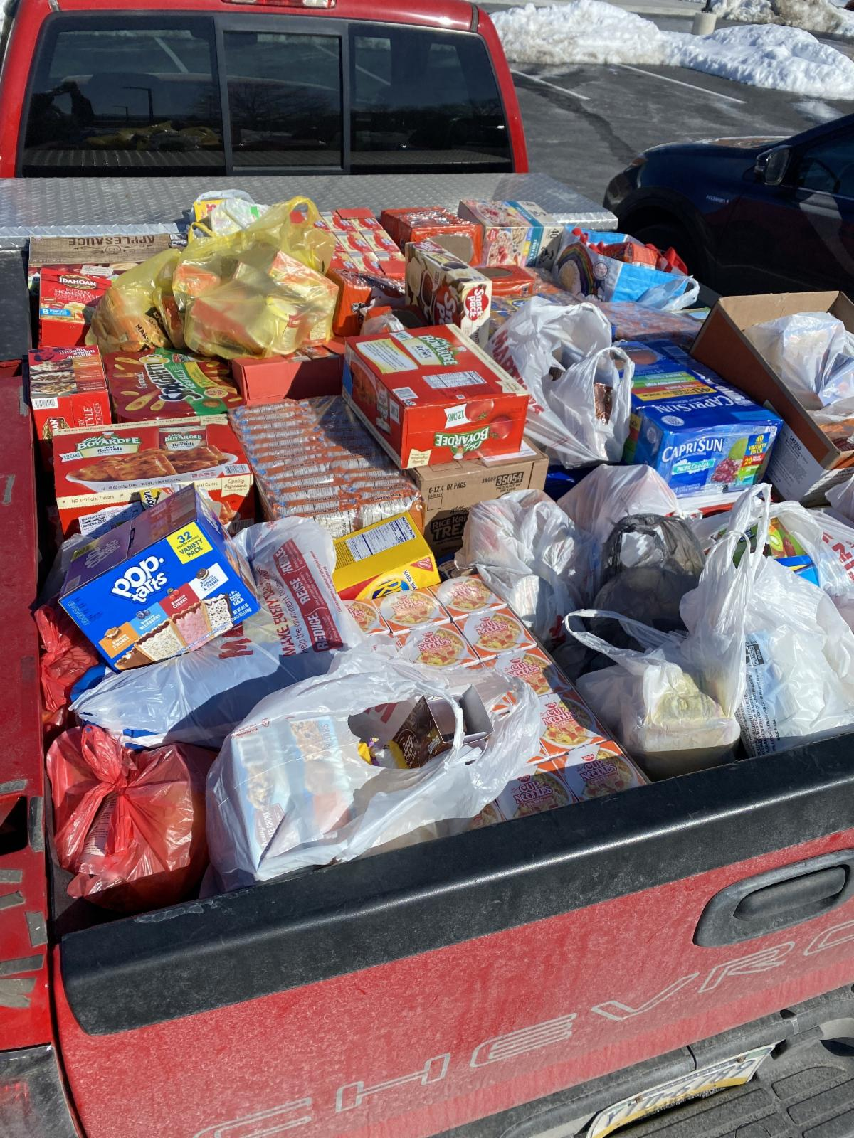 Truck filled with food