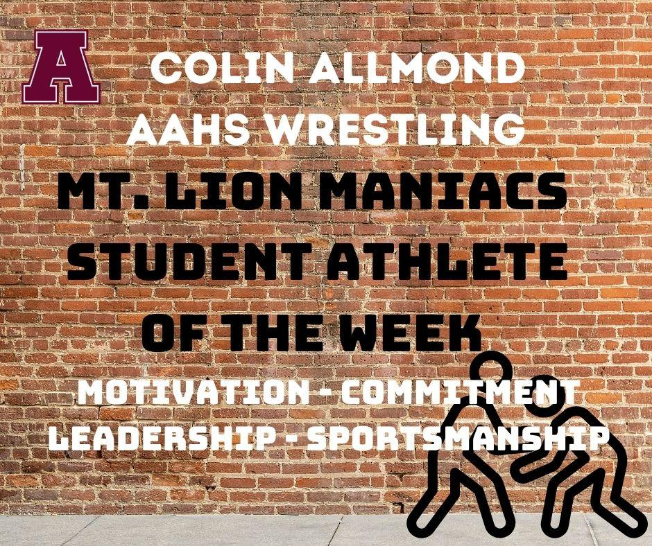 Athlete of the Week - Maniacs Colin Allmond