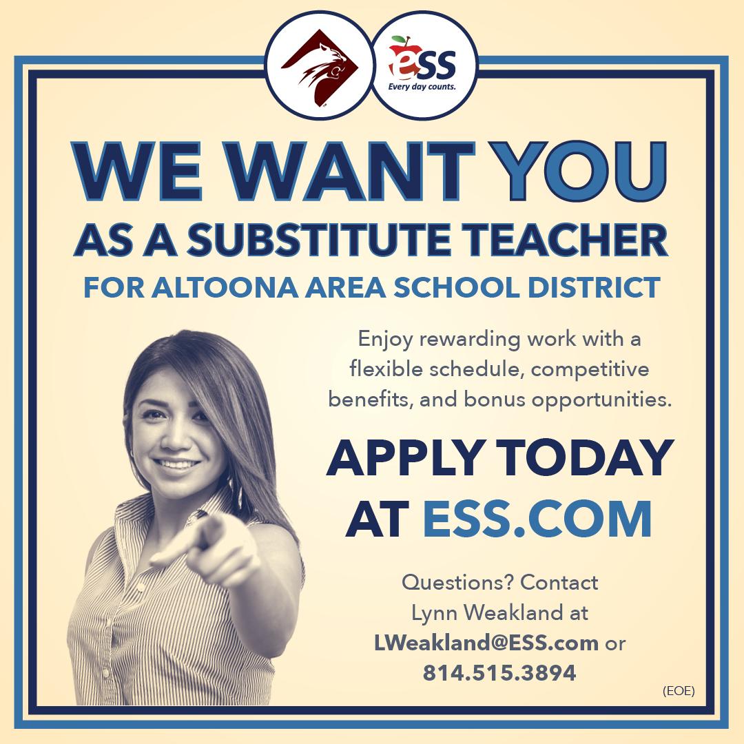 ESS Substitute Teacher Advertisement