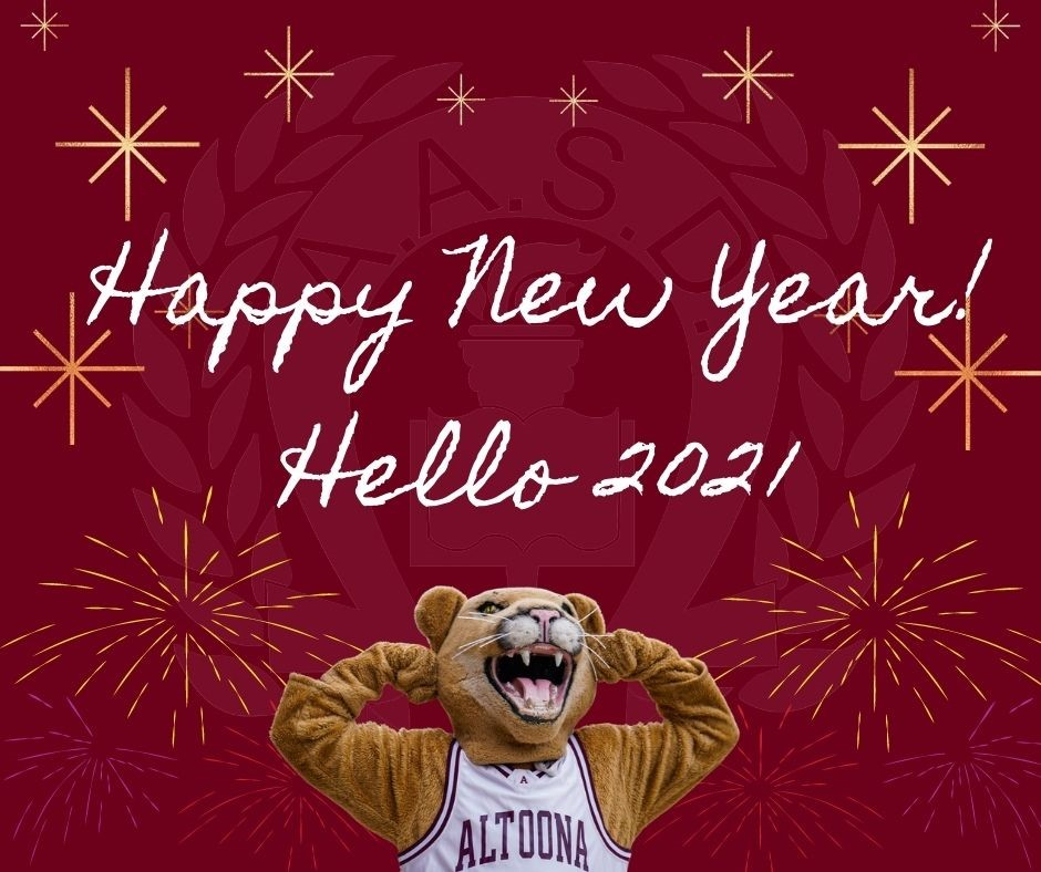 Happy New Year Card with Mt. Lion