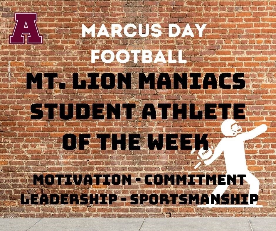 Marcus Day Athlete of the Week